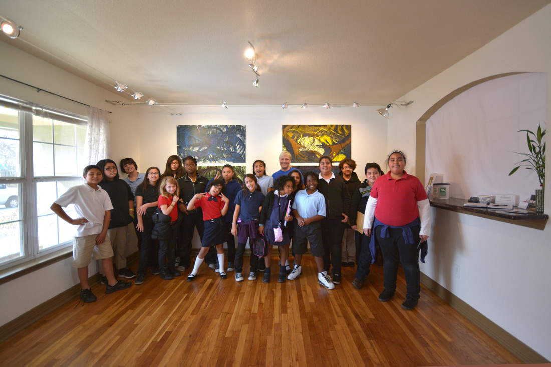 Group photo in gallery space